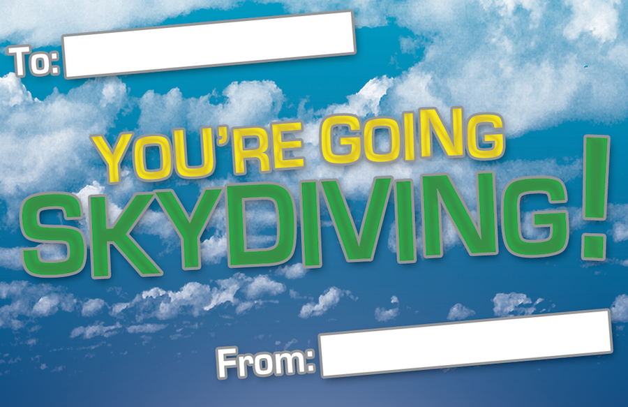 Skydiving Gift Vouchers